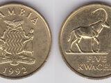 Zambian 5 kwacha coin