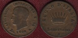 KoI 3 centesimi 1808B
