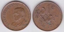 South Africa 1 cent 1968 en