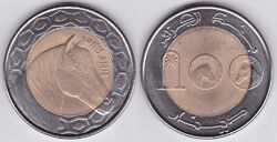 Algeria 100 dinars 1993