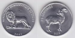 DRC 25 centimes ram