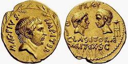 Aureus Sextus Pompeius 42BC