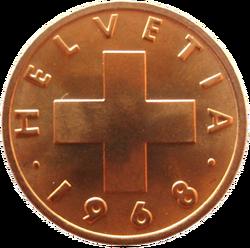 2 swiss centimes (obverse)