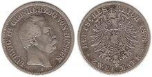 Hesse-Darmstadt 2 mark 1876