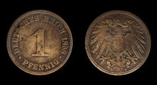 1-Pfennig-Coin-Deutsches-Reich-1898-A-JR-4363-4364