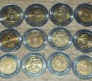 Mexican centenary and bicentenary 5 peso coins