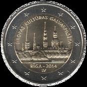 LV 2€ 2014 Riga