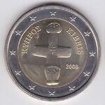 Cyprus 2 euros 2008 nat. side