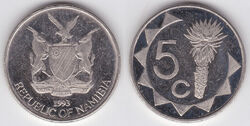 Namibia 5 cents 1993