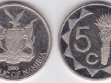 Namibian 5 cent coin