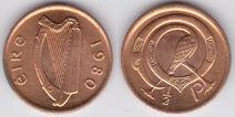 Ireland half penny 1980