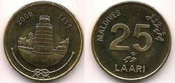 Maldives 25 laari 2008