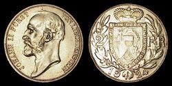 Liechtenstein 2 franken 1924