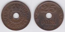 Yugoslavia 25 para 1938