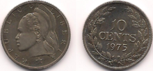 Liberia 10 cents 1975