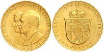 Liechtenstein 100 franken 1952