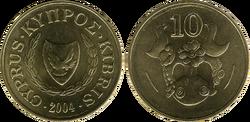 Cyprus 10 cents 2004