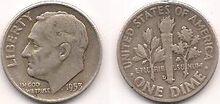 Silver Roosevelt Dime