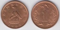 Zimbabwe cent 1988