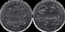 Andorra 1 centim 2002 Agnus Dei