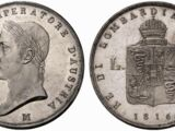 Lombardy-Venetia 6 lira coin