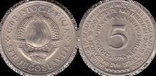 Yugoslavia 5 dinara 1975 liberation