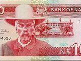 Namibian 100 dollar banknote