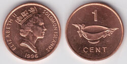 Solomon Islands cent 1996