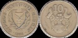 Cyprus 10 cents 1983