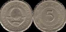 Yugoslavia 5 dinara 1975