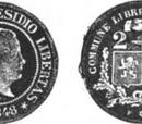 Moresnet 2 franc coin