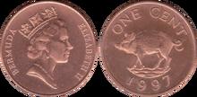 Bermuda 1 cent 1997