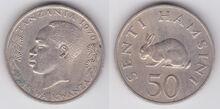 Tanzania 50 senti 1970