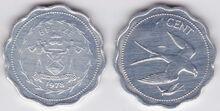 Belize 1 cent 1978 kite