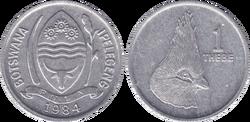 Botswana 1 thebe 1984