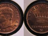 Italian 1 centesimo coin (Napoleonic Kingdom of Italy)