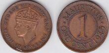 Mauritius 1 cent 1945