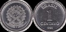 Brazil 1 centavo 1986