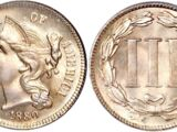 United States 3 cent coin