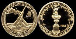 AmSamoa 1 dollar 1988