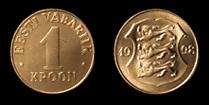 Estonia 1 kroon 1998
