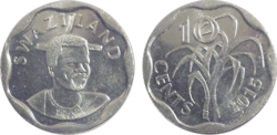 Swaziland 10 cents 2015