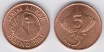 Iceland 5 aurar 1981