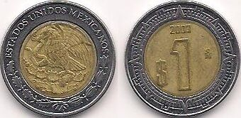 Mexican 1 Peso Coin Currency Wiki