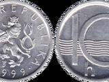 Czech 10 haléř coin
