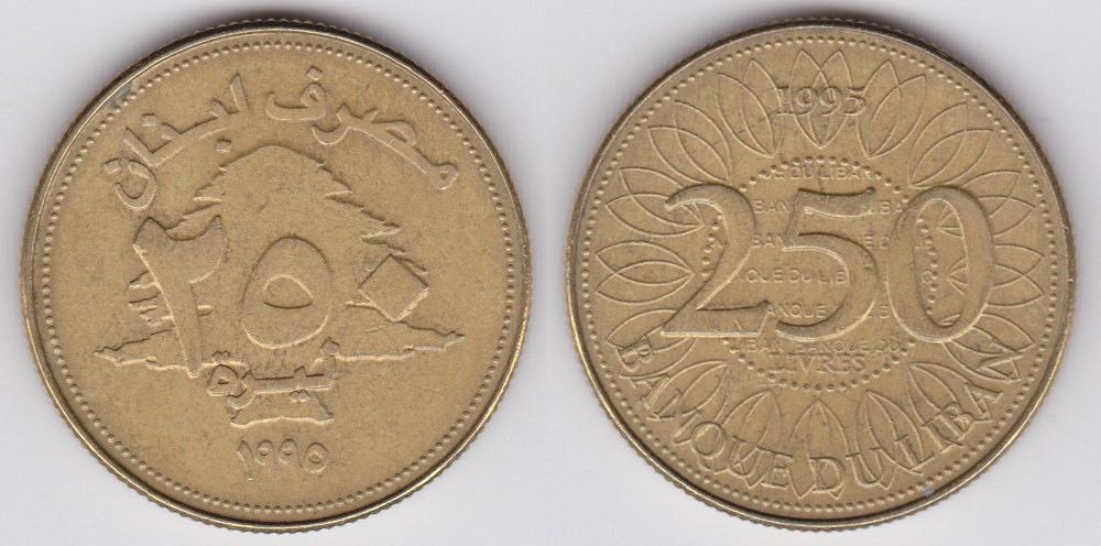 Lebanese 250 lira coin   Currency Wiki   FANDOM powered by Wikia