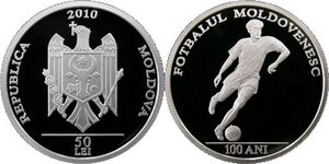 50 lei Fotbalul Moldovenesc