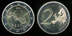 Estonia 2 euro 2011