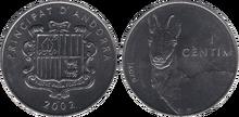 Andorra 1 centim 2002 Chamois
