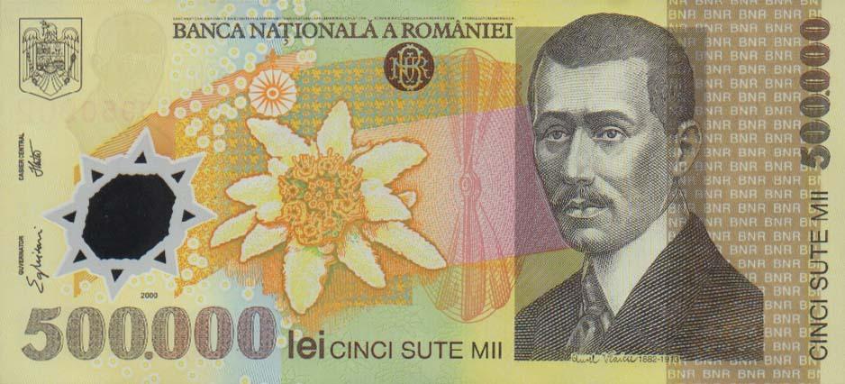 Romanian 500000 Leu Banknote Currency Wiki Fandom Powered By Wikia